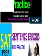 iPractice for SAT SENTENCE ERRORS - Interactive PPT Test Prep