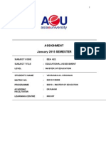 EEA622.Educational.assessment.jan.2015 - Answer