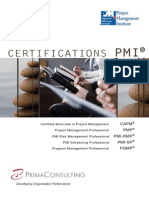 Brochure 5 Certifications de PMI.primaConsulting
