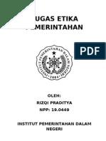 Tugas Etika Pemerintahan Terbaru