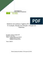 Relatório de Química Orgânica III