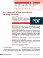 Development of Unconventional Forming Methods