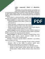 Rolul Principalilor Componenţi Chimici Ai Alimentelor