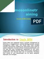 Oracle BPM Online Training