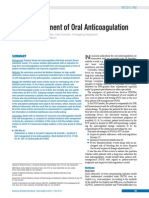 Self-management of Oral Anticoagulation