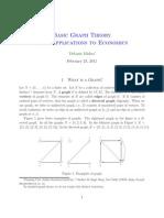 Graph Theory App to Economics