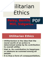 Values Utilitarian Ethics