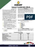 HT-Raloy Diesel Advanced CJ4-SM SAE 15W-40