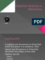objectos directos e indirectos