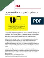 Catedra de Historia Para La Primera Infancia-2012-Revista Semana 02.10.12