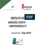 Emotiile in Cbt