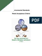 En EnvStand8 Waste Acceptance Criteria