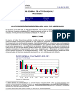 ÍNDICE GENERAL DE ACTIVIDAD (IGA) 1 Marzo de 2015