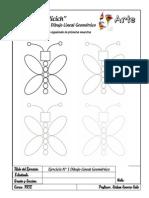 Ejercicios Dibujo Lineal Geométrico Arte - 1º Grado - 4º Semana 4 Muestras
