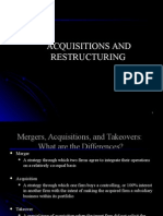 12. Acquisition and Restructuring