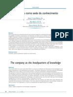 A Empresa Como Sede Do Conhecimento