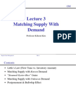 Lecture 3. Matching Supply With Demand