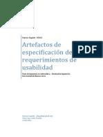 Artefactos de Especificación de Requerimientos de Usabilidad - Fagalde