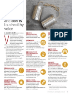 The Do and Don't to a healthy voice