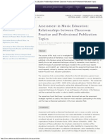 Assessment in Music Education Relationships Between Classroom Practice and Professional Publication