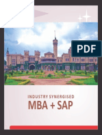 Industry Synergised MBA With SAP