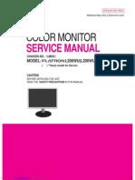 LG Flatron L206WU LCD Monitor Service Manual