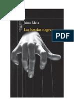 """#Adelanto """"Las bestias negras"""", de Jaime Mesa"""