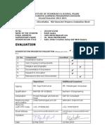 Mid Sem Evaluation