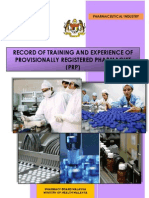 Malaysia PRP Pharmaceutical Industry Logbook