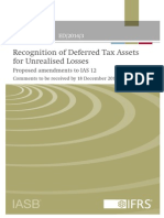ED Recognition Deferred Tax IAS 12 August 2014