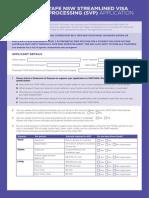 TAF 150310 SVP Application Form
