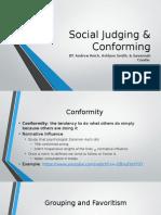 social judging & conforming psych