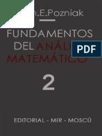 Ilín, V., Pozniak, E. - Fundamentos del Análisis Matemático Tomo 2.PDF