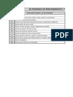 Formato Programa Anual de Mantenimiento Preventivo