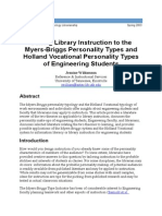 Issues in Science and Technology Librarianship Suiting MBTI