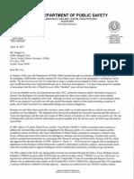 TxDPS Letter