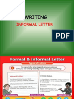 Writing Formal and Informal Letter