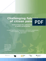 Citizen Panels Challenging Futures Report Final