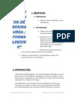 Infrome de Resina Urea-Formaldehido