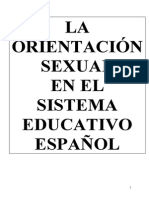 Orientacion Sexual en El Sistema Educativo