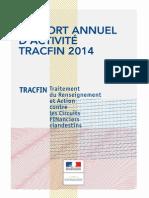 Rapport d'activité 2014 de Tracfin