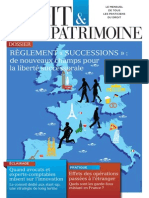 Une du n° 246 Droit & Patrimoine Avril 2015