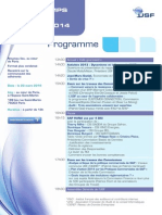 Programme Printemps Usf 2014