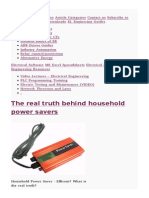 The Real Truth Behind Household Power Savers