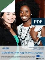 BABEL Guidelines for Applicants 3rd Cohort En