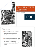 frankenstein - allusions