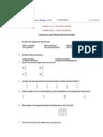 Ejercicios fracciones 5º primaria