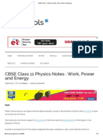 CBSE Class 11 Physics Notes _ Work, Power and Energy