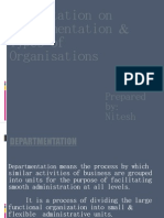 PPT on Departmentation