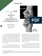 Löwy, Michael- Negatividad y Utopía Del Movimiento Altermundialista [Laberinto, Nº 23, 2007]